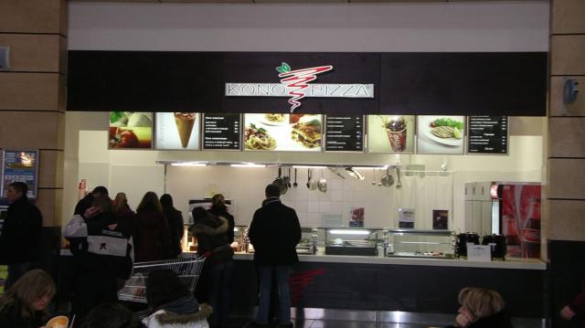 Fast food restaurants «Konopizza»