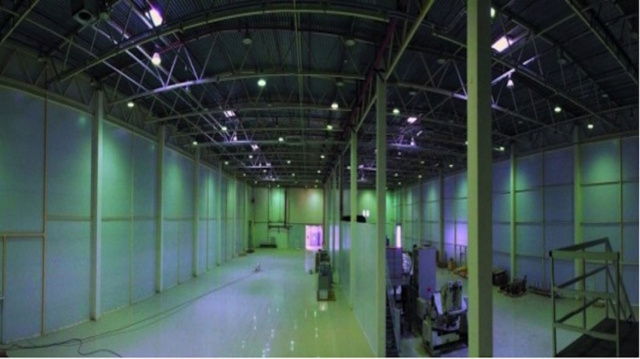 Premises for production of aseptic package